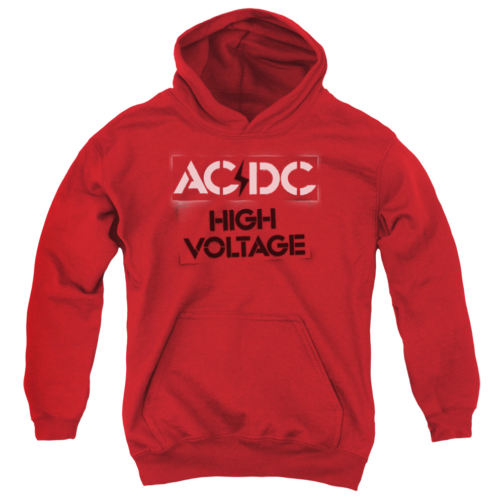 ACDC High Voltage Stencil Big Boys Pullover Hoodie