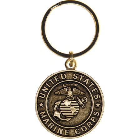 United States Bronze Marine Corps Key Chain