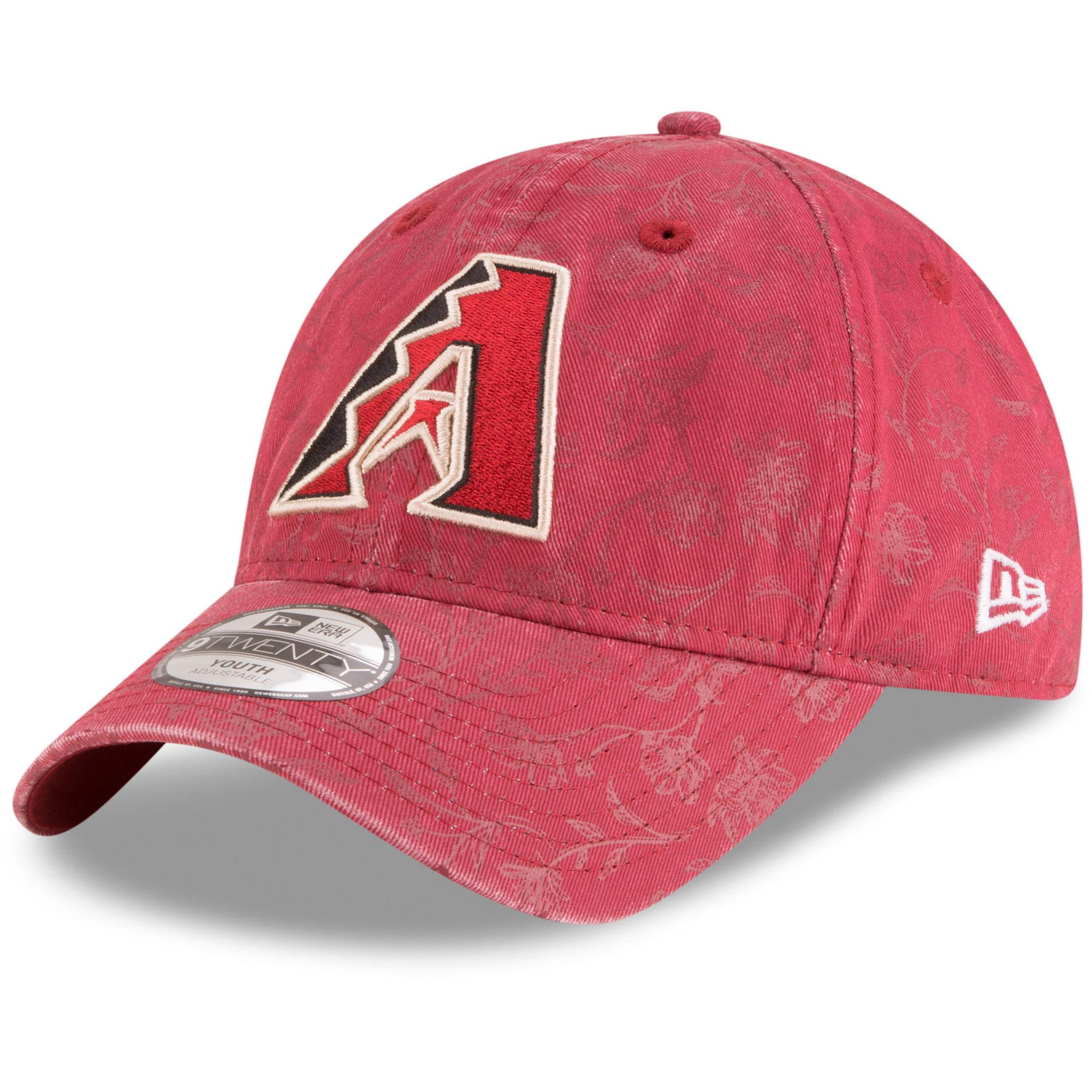Arizona Diamondbacks New Era Girls Youth Floral Peek 9TWENTY Adjustable Hat - Red - OSFA