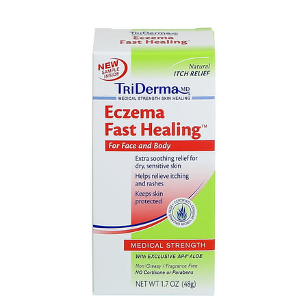 Triderma Eczema Fast Healing Cream  1 7 Oz  Tube