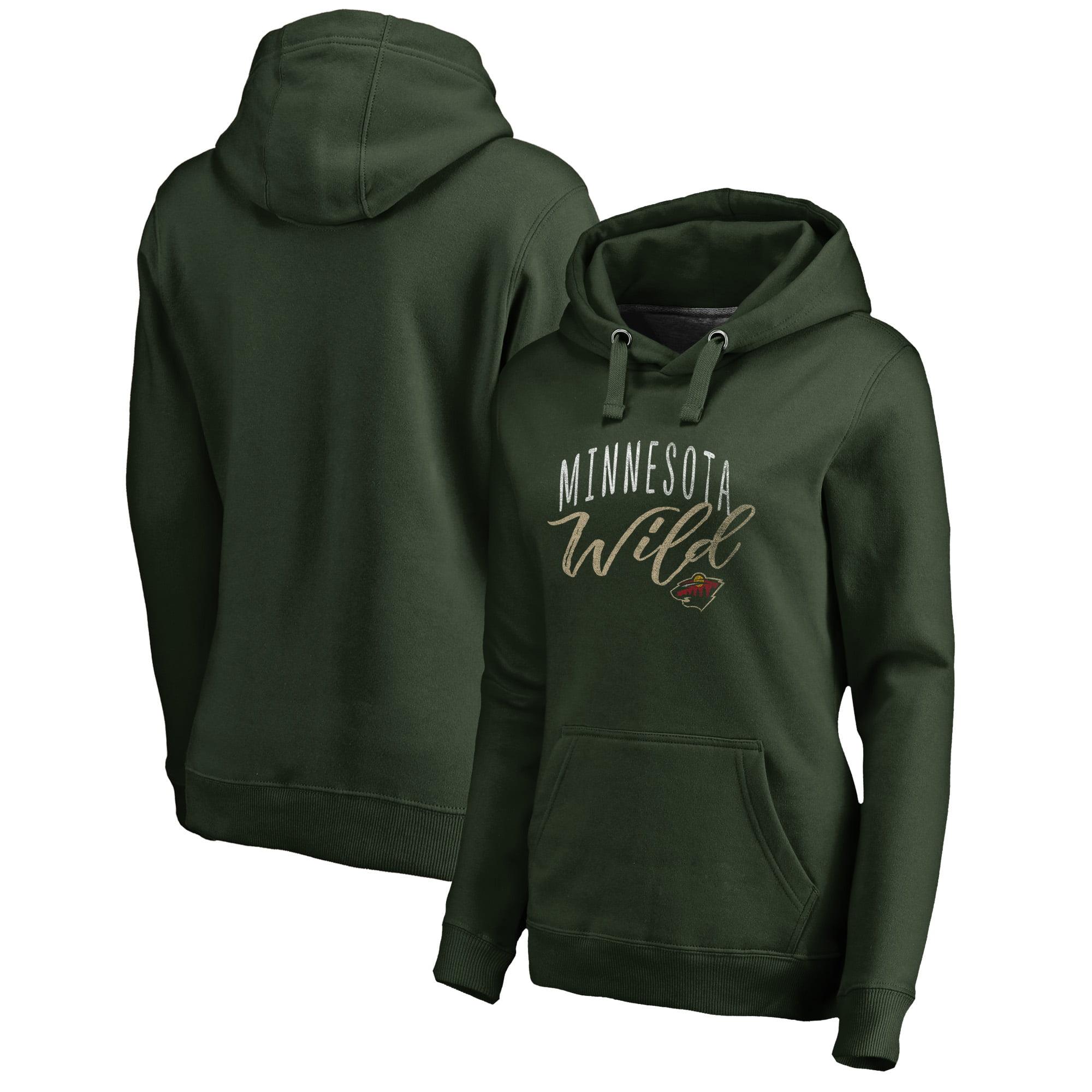 Minnesota Wild Fanatics Branded Women's Plus Size Graceful Pullover Hoodie - Green