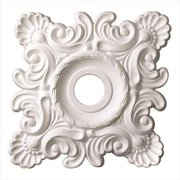 American Pro Decor 5APD10220 18 x 18 in. Shell And French Twist Ceiling Medallion