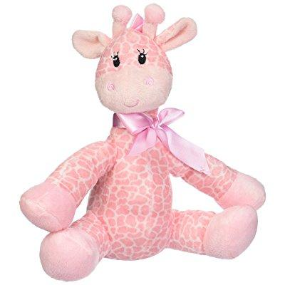 first & main plush stuffed giraffe, pink, 8.5