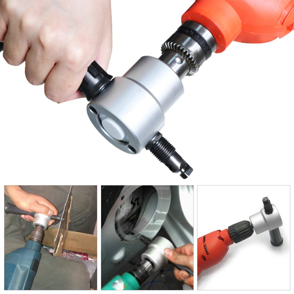 Multipurpose Nibbler Saw Tool Metal Cutting Double Head Drill 360 Degree Adjustable Nibbler Saw Cutter With Wrench