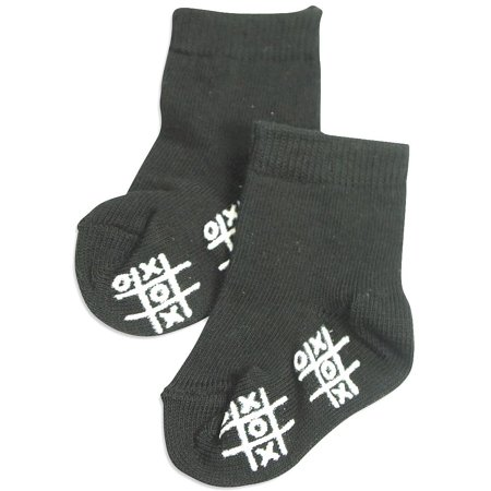 Tic Tac Toe - Little Girls Anklet Sock Black / X-Small for $<!---->