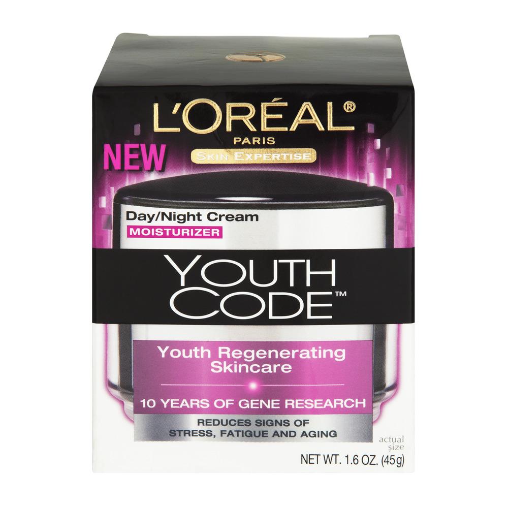 L'Oreal Paris Youth Code Day/Night Cream Moisturizer, 1.6 OZ