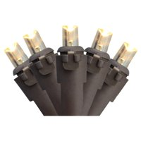 Northlight 100 ct. LED Lights with Brown Wire 4 in. Spacing