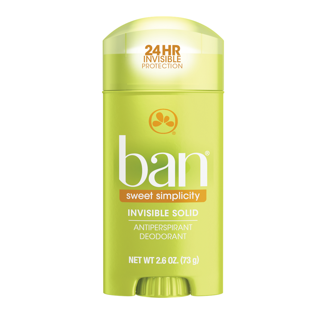 Ban Sweet Simplicity Invisible Solid Deodorant 2.6 oz
