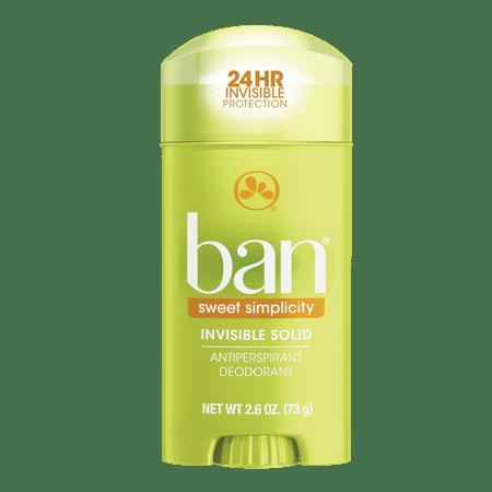 Ban Sweet Simplicity Invisible Solid Deodorant 2.6 oz (Rey Ban Brille)