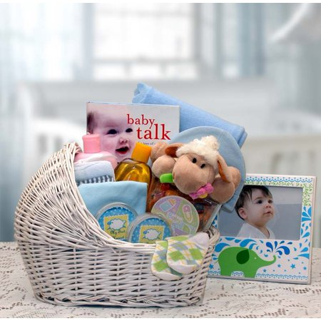 Gift Basket 89062-B Welcome Baby Baby Bassinet - Blue, medium - Welcome Gift