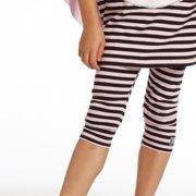 Little Girls Pink Black Stripes Pedal Pusher Leggings 2T-6