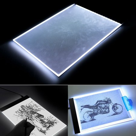 TSV A4 Tracing Light Pad, Ultra-thin Tracing Light Box USB Power Artcraft Tracing Light Table for Artists, Drawing, Sketching, Animation (Light Table Drawing)