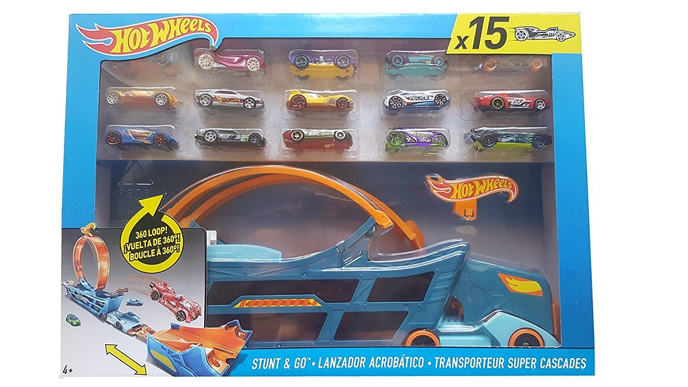 Hot Wheels Stunt & Go Track Set With 15 Cars by Hot Wheels