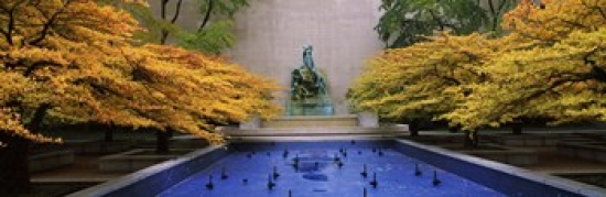 Fountain in a garden Fountain Of The Great Lakes Art Institute Of Chicago Chicago Cook County Illinois USA Poster Print by Panoramic Images