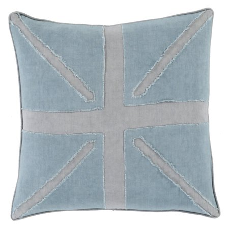 Surya Light Linen Flag Decorative Pillow