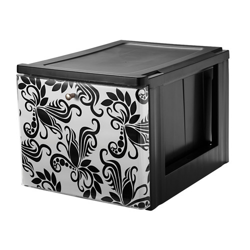IRIS USA, Inc. Stacking File Storage Drawer with Design