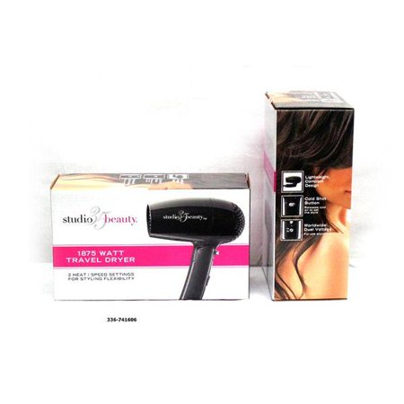 Studio 35 Beauty Travel Worldwide Dual Voltage Foldable Compact Mini 1875 Watt Hair