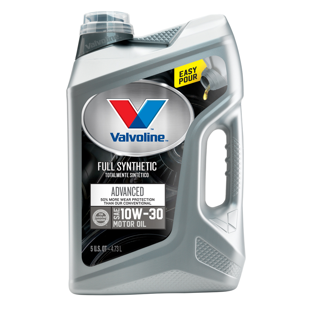 Valvoline Advanced Full Synthetic SAE 10W-30 Motor Oil - Easy Pour 5 Quart