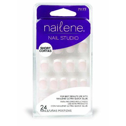 Pacific World Nailene Nail Studio Nails, 24 ea