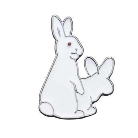 Fancyleo Cute Pins Funny Sexy Cool Rabbit Pin Animal Lapel Pin Brooch Jewelry Decoration - Cool Labels