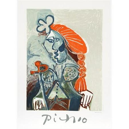 Pablo Picasso 14531 La Femme Avec Le Bzret Rouge  44  Lithograph On Paper 29 In  X 22 In    Orange  44  Gray  44  Brown