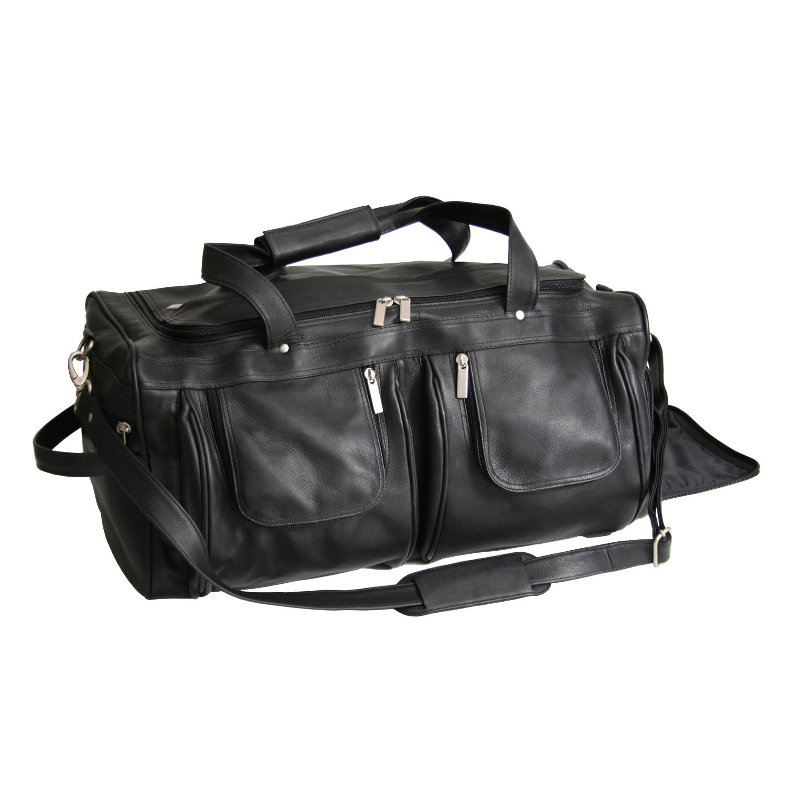 Royce Leather Colombian Vaquetta Leather Sports Duffel Travel Bag