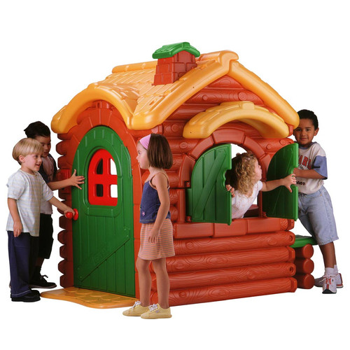 ECR4Kids Active Play Wilderness Log Cabin Playhouse by Early Childhood Resources LLC