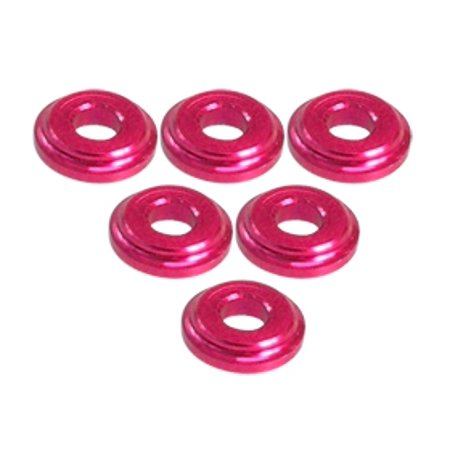 Shock Tower Shim - Integy RC Toy Model Hop-ups 3RAC-WFS820/RE 3Racing Shock Tower Shim M8 x 2mm (6pcs) - Red