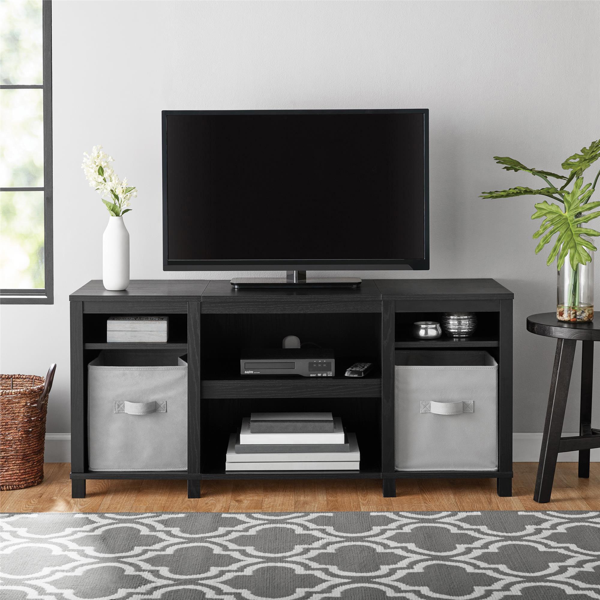 Rustic Wood Tv Stand Furniture Living Room Entertainment Center Black Vintage