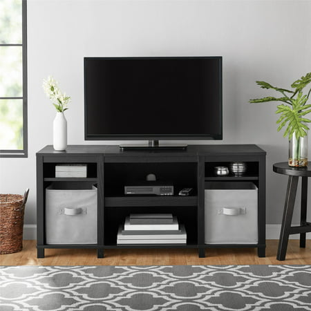 "Mainstays Parsons Cubby TV Stand for TVs up to 50"", Black"