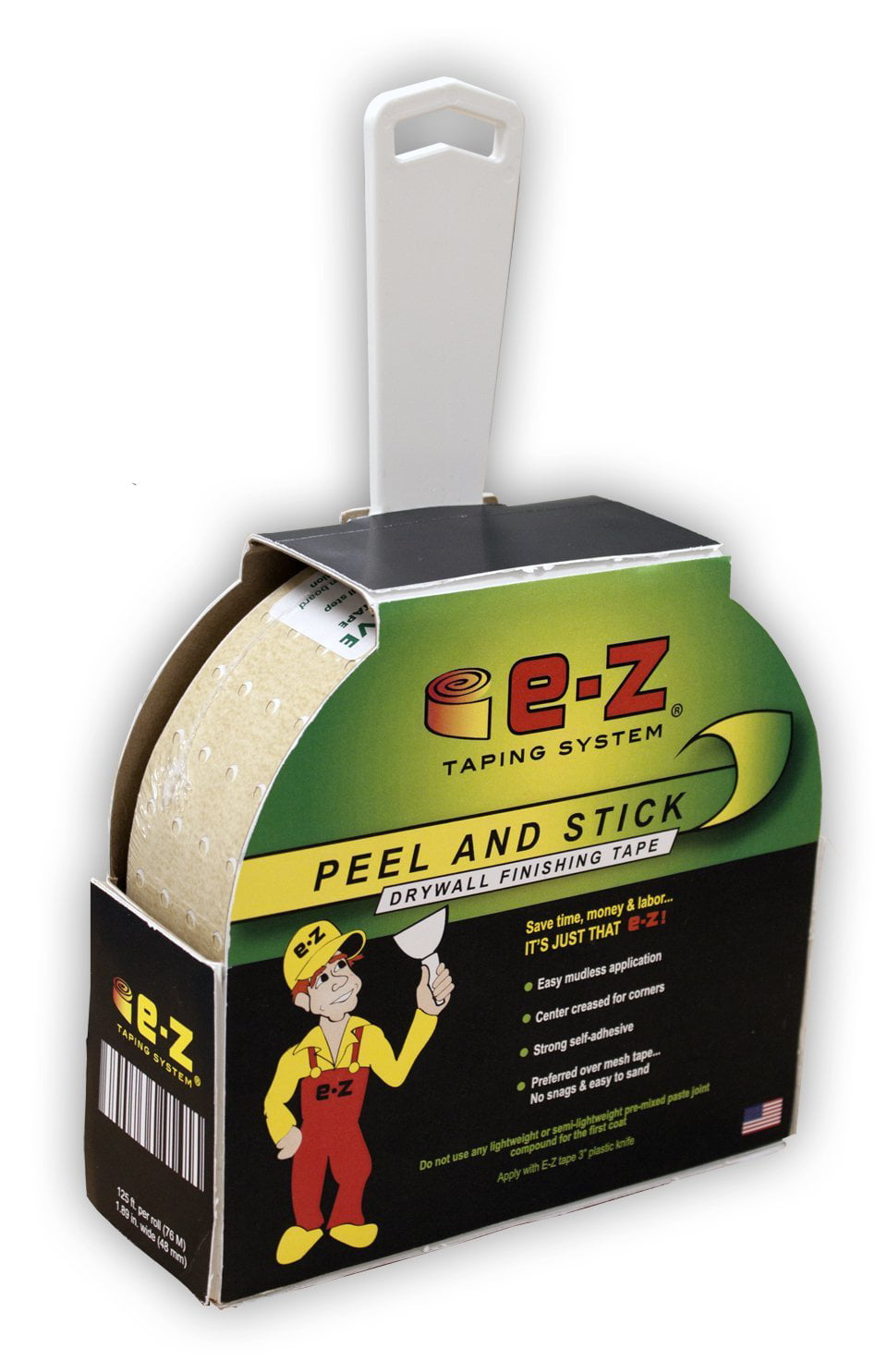 E-Z Tapping 99125 Peel & Stick Drywall Finishing Tape, Green, 125' by E-Z Taping System