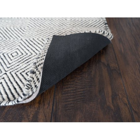 """Rug Pad Central, 1/4"""" Thick, 9'x12', Non-Slip Felt and Rubber Rug Pad, Ultra Black 22"""