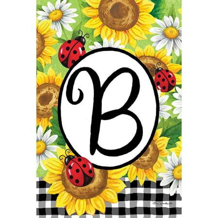 Custom Decor Garden Flag - Sunflower Ladybug B