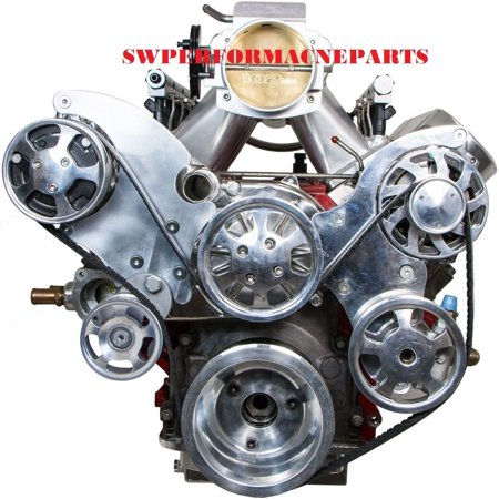 CHEVY LS1 LS2 LS6 FRONT DRIVE SERPENTINE PULLEY KIT GM CHEVROLET FREE