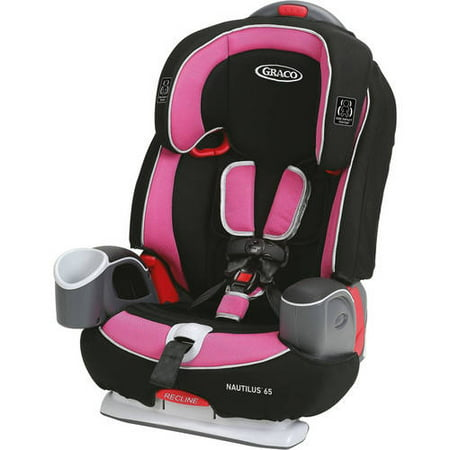Graco Nautilus 65 3-in-1 Harness Booster Car Seat, Tera Pink
