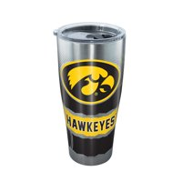 NCAA Iowa Hawkeyes Knockout 30 oz Stainless Steel Tumbler with lid