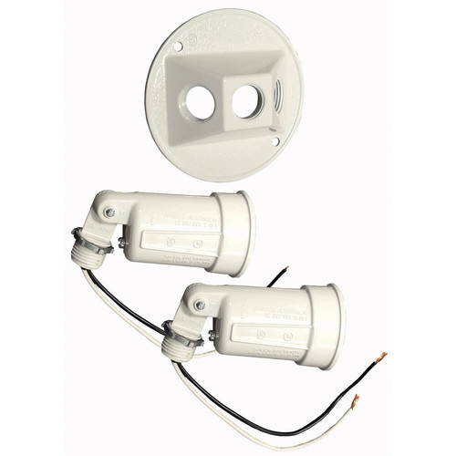 HubbellRaco 2-Light Outdoor Spotlight