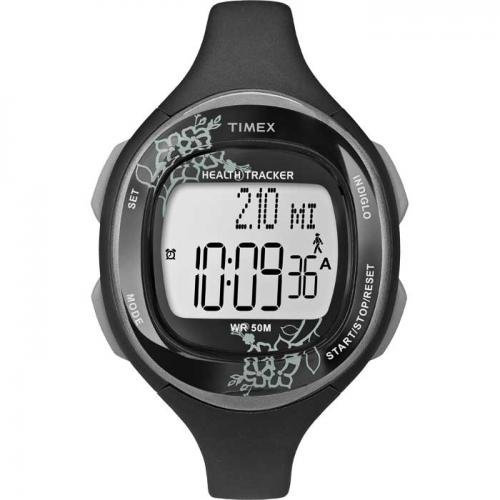 Timex Womens Silicone Health Tracker Midsize Sports Watch