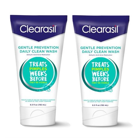 (2 pack) Clearasil Gentle Prevention Daily Clean Acne Face Wash, 6.5oz ()