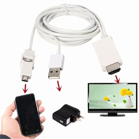 Micro USB 5/11 pin to HDMI HD 1080P TV Cable Adapter for Android Samsung Phone