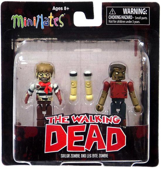 Sailor Zombie & Leg Bite Zombie Minifigure 2-Pack Minimates Series 2