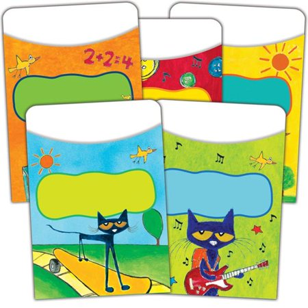 Teacher Created Resources EP-63923BN Pete The Cat Library Pocket - Pack of 6 - image 1 de 1