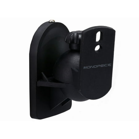 Monoprice Low Profile 7.5 lb. Capacity Speaker Wall Mount Brackets (Pair),
