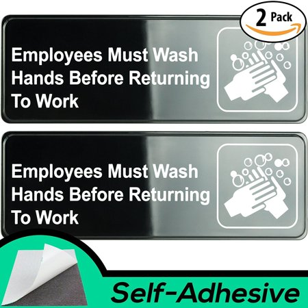 Please Take Just One Halloween Sign (Easy Install Employees Must Wash Hands Before Returning to Work Sign With Self-Adhesive Backing. 2 Pack Set, One Each For The Men's and Women's Restroom. Takes 30 Seconds To Post)