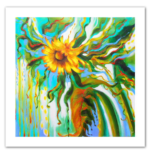ArtWall 'Sunflower Melting' by Susi Franco Painting Print on Canvas