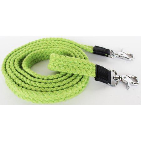 - Pro Rider Horse Tack Soft Cotton Hand Braided Western Barrel Reins Lime Green 607468