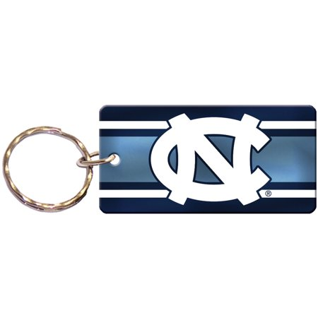 "North Carolina Tar Heels 3.5"" x 1.25"" Super Stripe Acrylic Keychain - No Size"