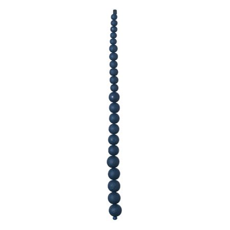 Create customized, colorful jewelry with this strand of graduated smoke blue beads. Pair a couple strands together for a necklace.