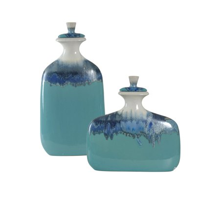 GwG Outlet Set of 2 Ceramic Jars in Beach Grove Finish (Outlets Grove)