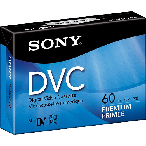 Sony 60-Minute Premium-Grade MiniDV Video Cassette